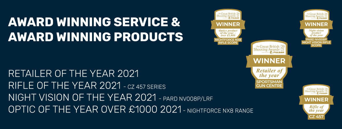 Award Winning Products and Service.