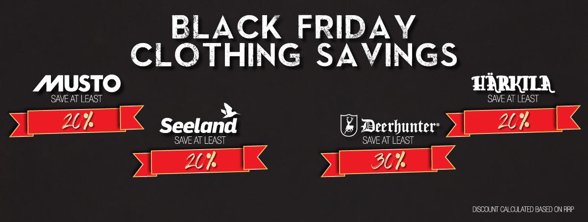 Black Friday Clothing Savings