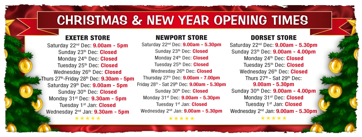 Sportsmans Christmas Opening Times