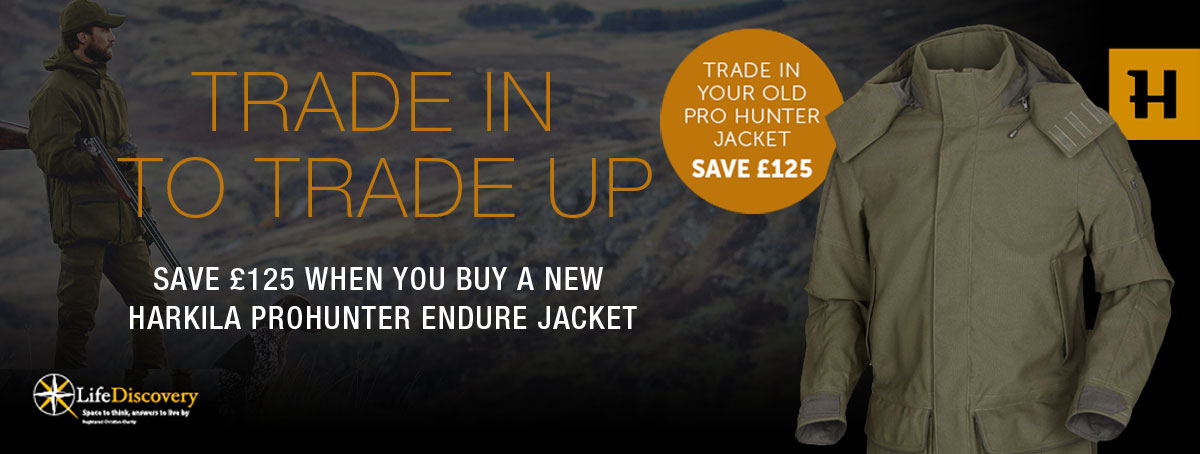Save £125 when you trade your old Prohunter Jacket
