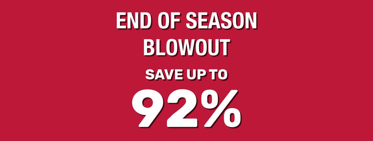 End Of Season Blowout Banner