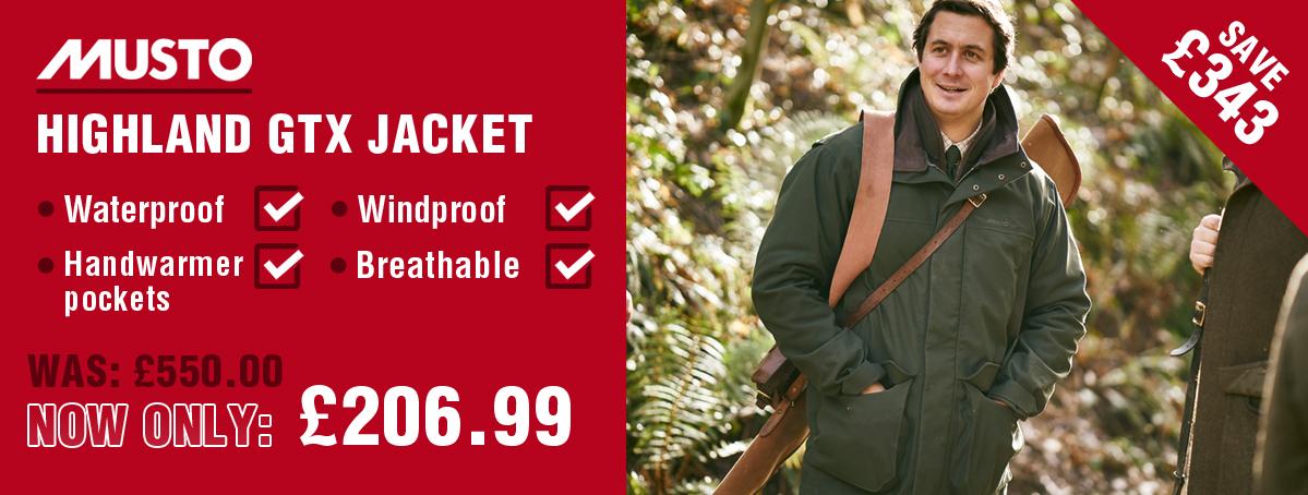 Save £300 on the Musto Highland Jacket