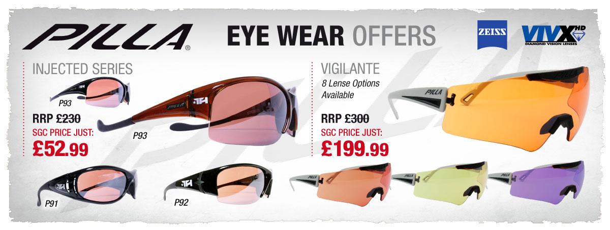 Big Savings to be had on Pilla Shooting Eyewear