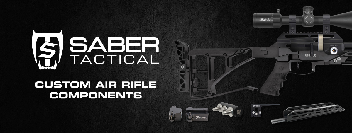 Saber Tactical | Custom Air Rifle Components