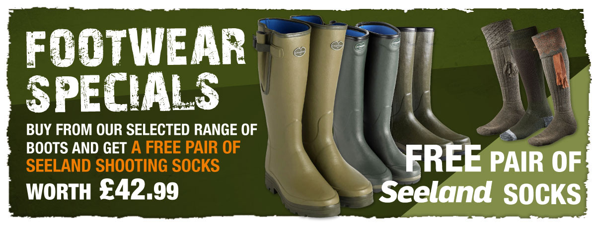 Freee socks with selected wellington boots