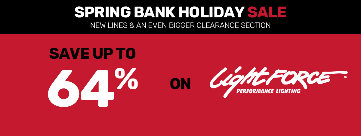 Save up to 64% on LightFORCE in our Spring Bank Holiday Sale!