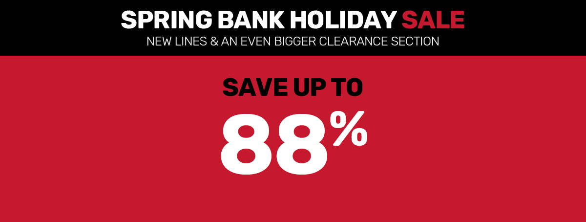 Save up to 88% in our Spring Bank Holiday Sale!