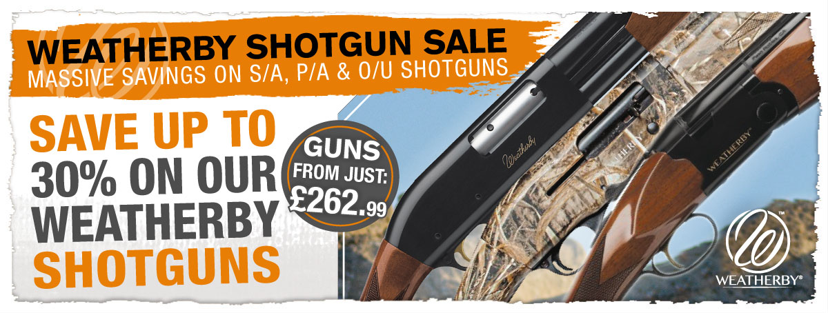 Save up to 30% on Weatherby Shotguns