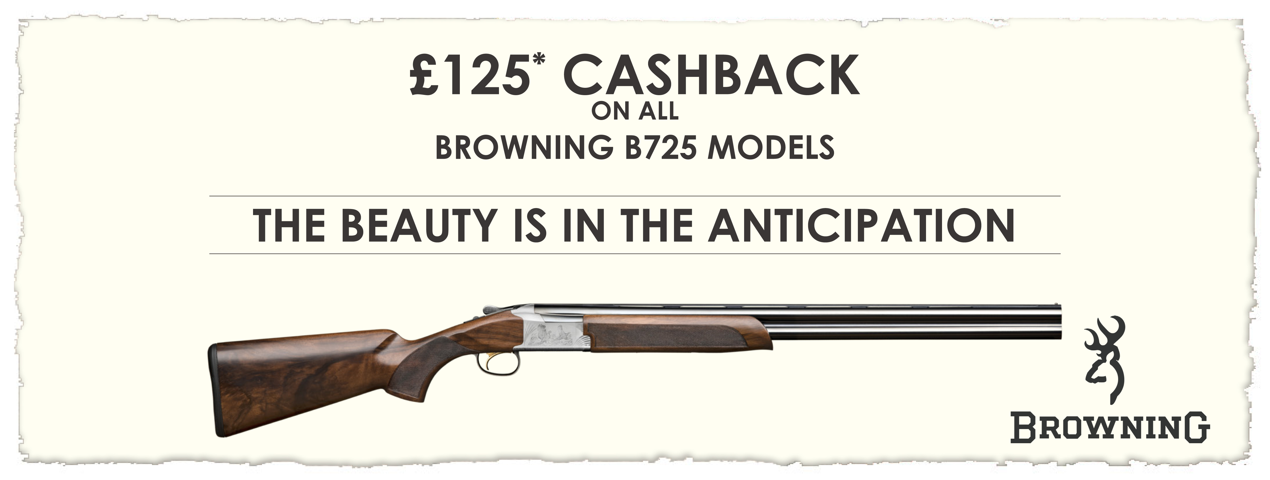 £125 Cashback on all Browning B725 Models