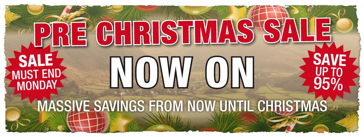 Pre Christmas Sale Now On