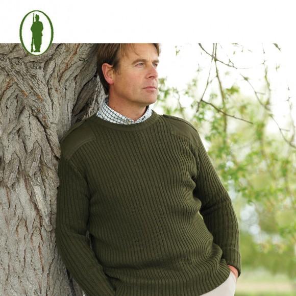 Bisley Military Green Sweater
