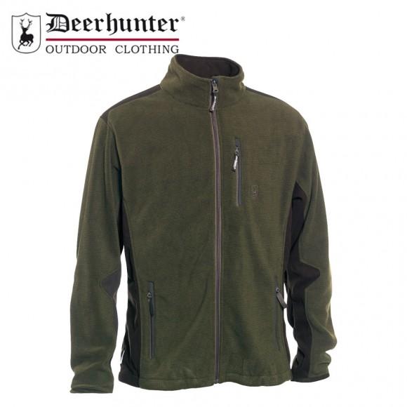 Deerhunter Muflon Zip In Fleece Jacket Art Green