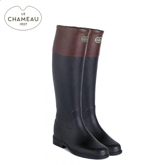 Le Chameau Andalou Riding Boots - Noir/Marron (Ladies)