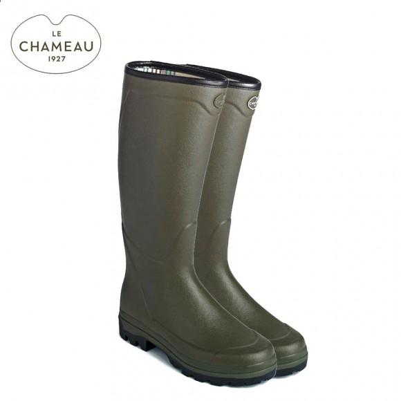 Le Chameau Country XL Jersey Lined Wellington Boots - Vert Chameau (Mens)
