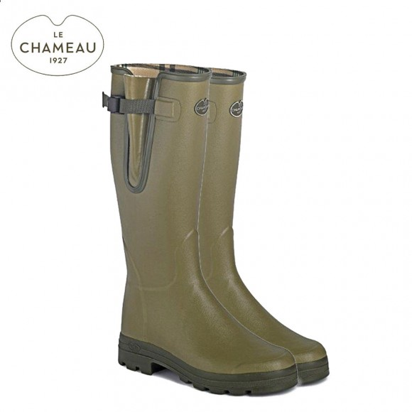 Le Chameau Vierzon Jersey Lined Wellington Boots - Vert Vierzon (Ladies)