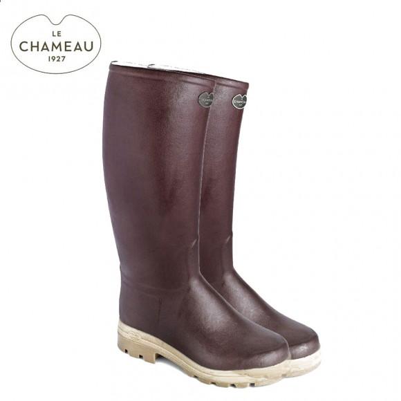Le Chameau Saint Hubert 40 Cm Calf Leather Lined Wellington Boots - Marron (Mens)
