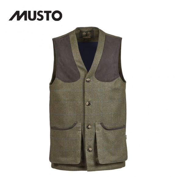 Musto Machine Washable Tweed Waistcoat Cairngorm