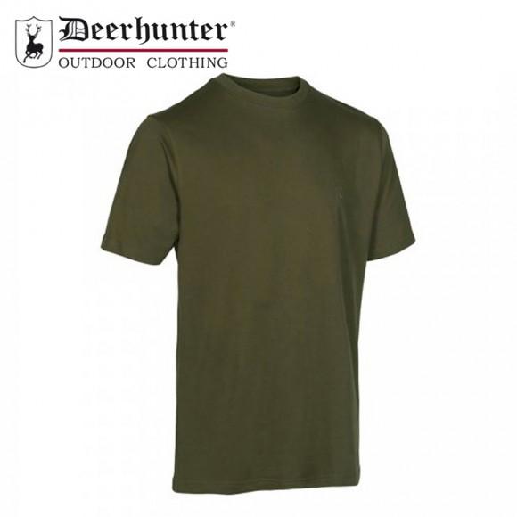 Deerhunter T Shirt Green/Brown L 2pk
