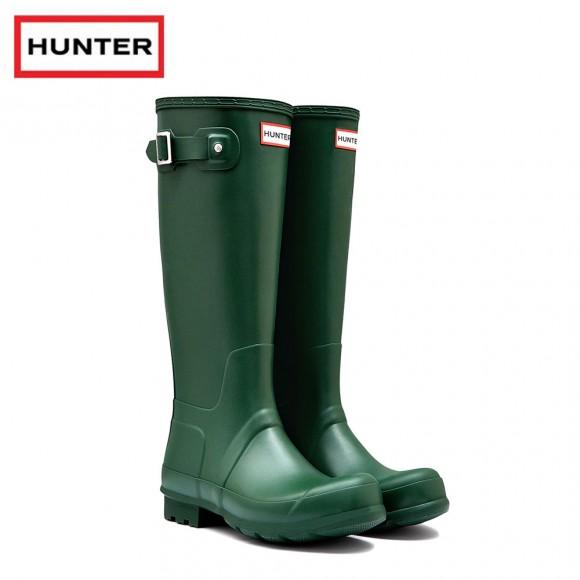 Hunter Original Tall Green Wellington Boots (Unisex)