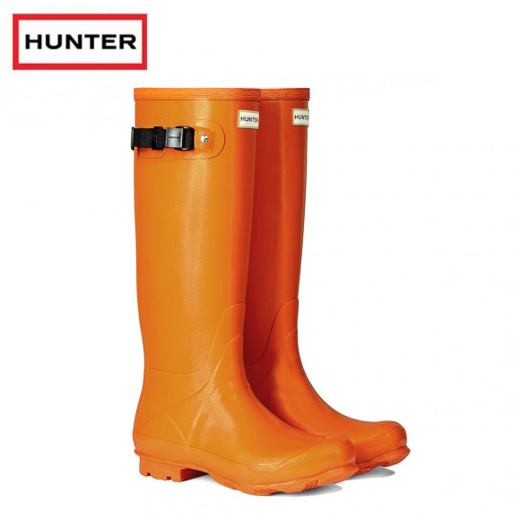 Hunter Womans Norris Field Orange Lichen Wellington Boots (Ladies)