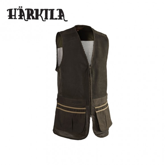 Harkila Sporting Waistcoat Dark Khaki/Demitasse Brown