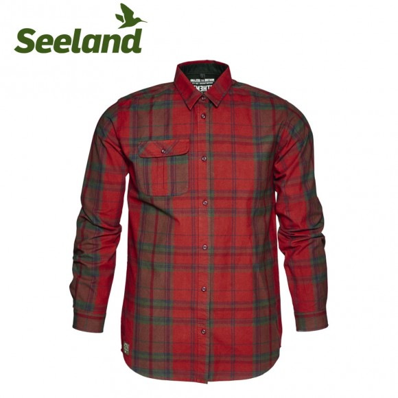 Seeland Conroy Shirt Russet Brown Check