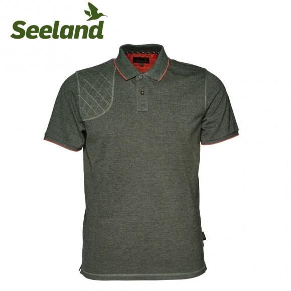 Seeland Clayton Classic Polo Forest Night Melange