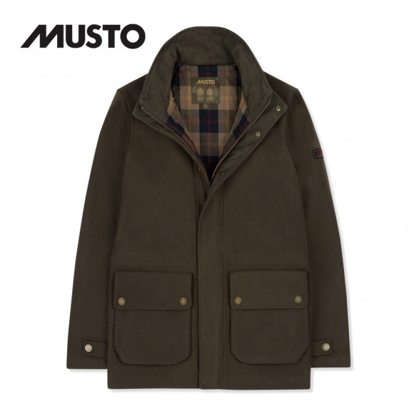 MUSTO BRAMPTON BR2 MELTON JACKET RIFLE GREEN
