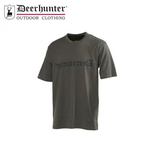Deerhunter Logo T Shirt S/S Bark Green