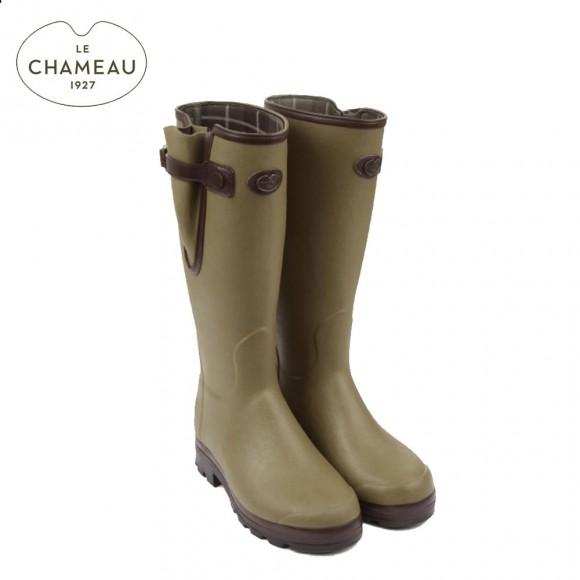 Le Chameau Vierzonord Prestige - Neoprene Lined Wellington Boots - Vert Vierzon (Mens)
