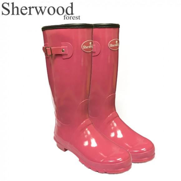 Sherwood Forest Linton Gloss Ladies Wellingtons Paradise