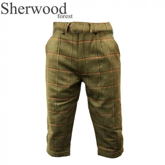 Sherwood Forest Windsor Tweed Breeks Moss Olive/ Burnt Orange Check