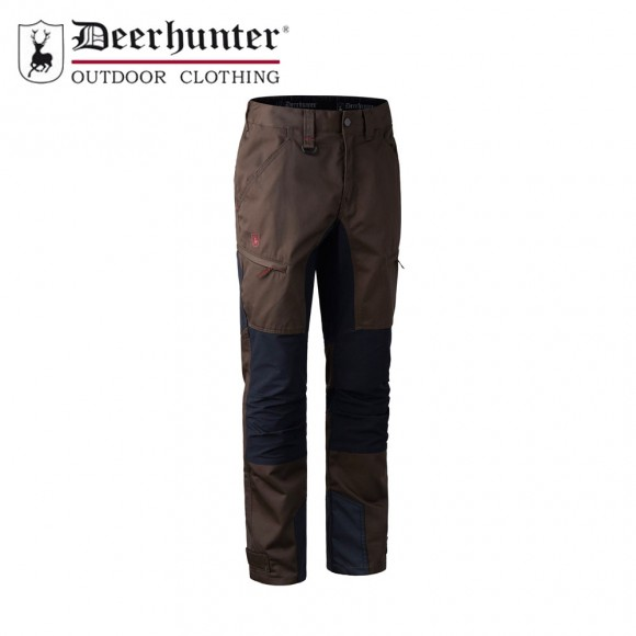 Deerhunter Rogaland Stretch Contrast Trousers Brown Leaf