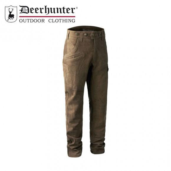 Deerhunter Strasbourg Leather Trouser Brown