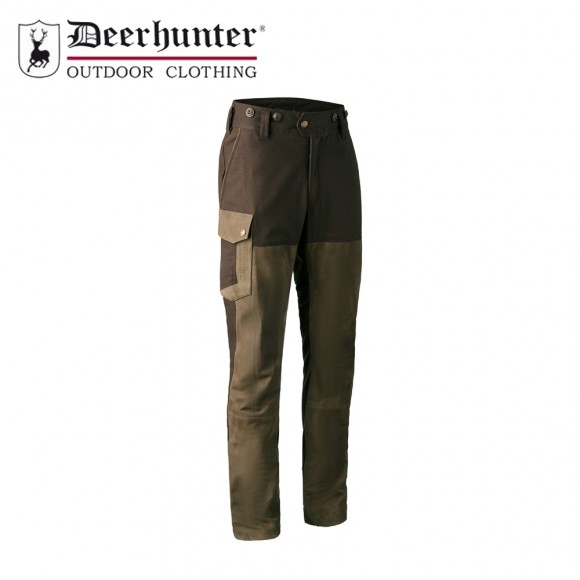 Deerhunter Marseille Leather Mix Trouser Walnut