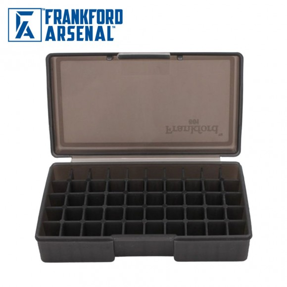 Frankford Arsenal Hinge Top Ammo Box 50 Round Smoke Grey