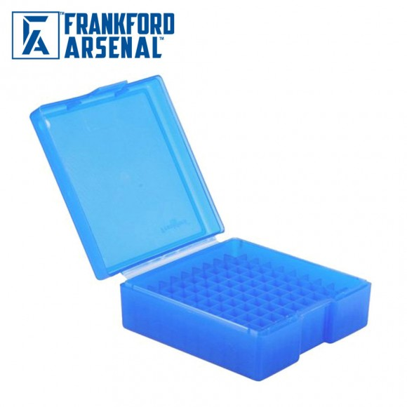 Frankford Arsenal Hinge Top Ammo Box 50 Round Blue