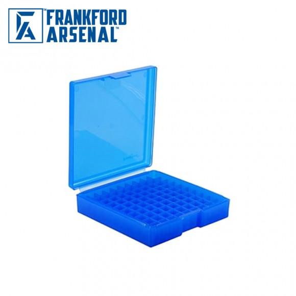 Frankford Arsenal Hinge Top Ammo Box 100 Round Blue