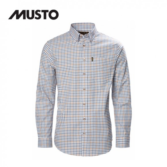 Musto Classic Button Down Shirt Oban Blue
