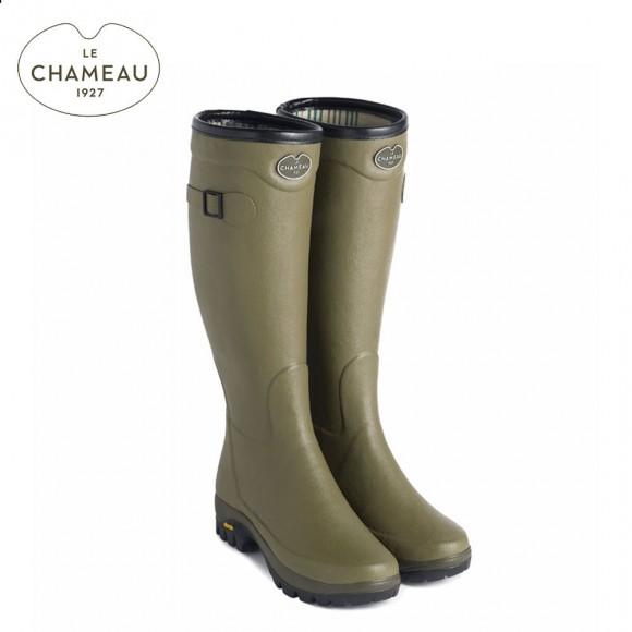 Le Chameau Country Vibram Jersey Lined Wellington Boots - Vert Vierzon (Ladies)