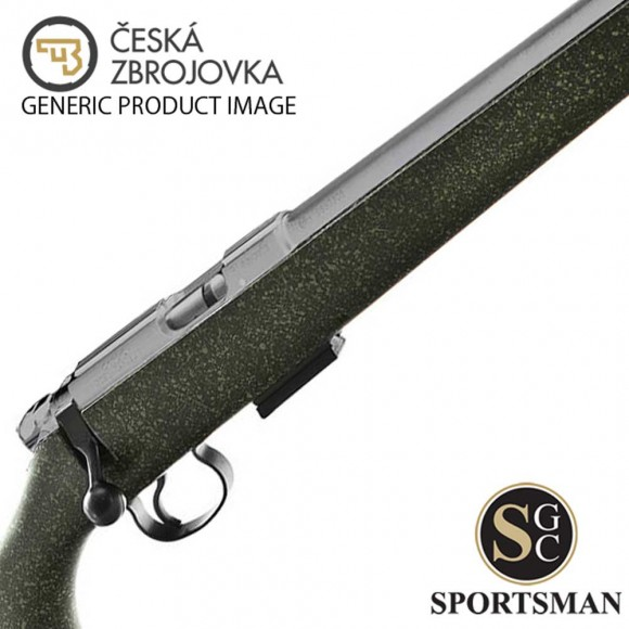 CZ 455 American Stainless Syn Blk/Grn SC
