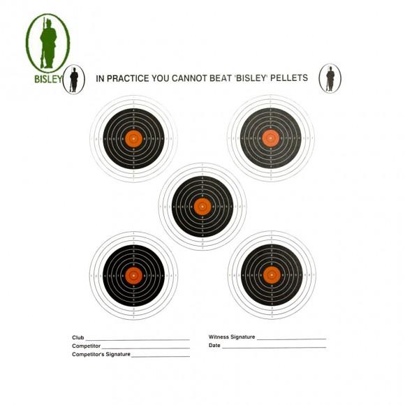 Bisley 14cm Economy Card Five Targets