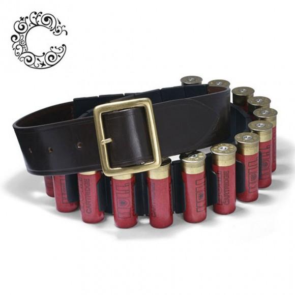 Croots Malton Bridle Leather Cartridge Belt-Quick Release Clips