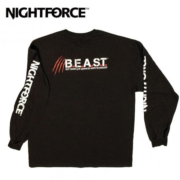 Nightforce Long Sleeve BEAST T Shirt Black