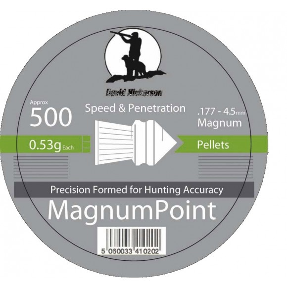 Nickerson Magnum Point Pellets x 500