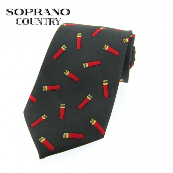 Sax Soprano Cartridge Printed Silk Shooting Tie