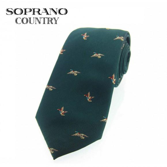 Sax Soprano Flying Duck Woven Silk Shooting Tie