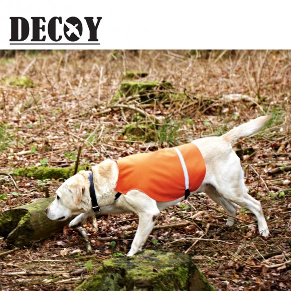 Decoy Dog Waistcoat Orange PVC With Reflective Band
