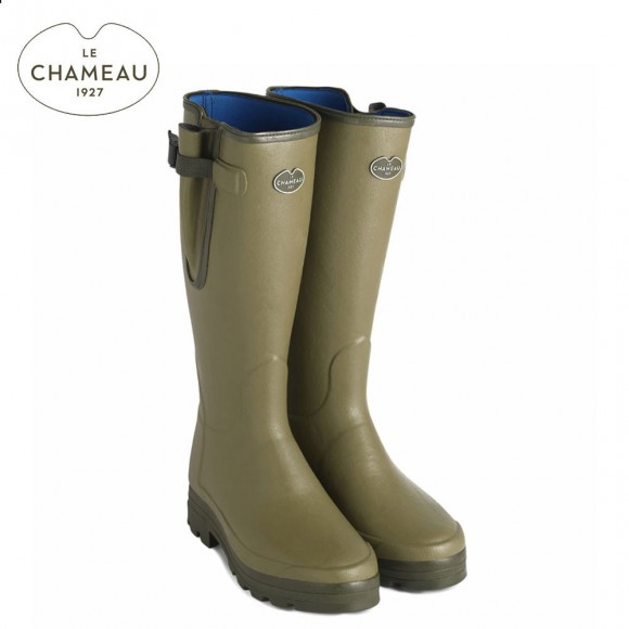 Le Chameau Vierzonord XL (Wider Calf) Neoprene Lined Wellington Boots - (Mens)