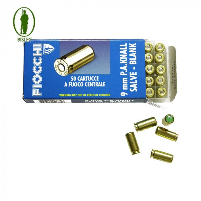 Bisley Fiocchi 9mm P a k Blanks 50pk